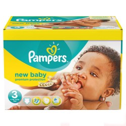 Pack 76 Couches Pampers New Baby taille 3 sur Promo Couches