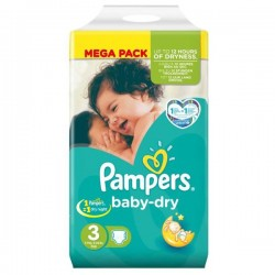Pack 72 couches Pampers Baby Dry Night