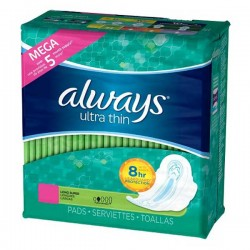 Pack 80 Serviettes hygiéniques d'Always Ultra Thin taille Long sur Promo Couches