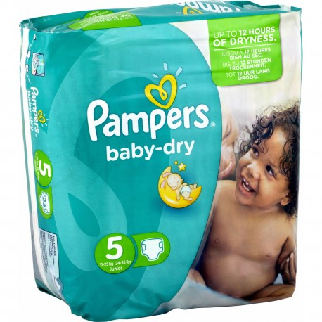 Couches Pampers Baby Dry Taille 5 à Bas Prix 78 Couches Sur Promo