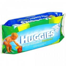 Pack de 64 Lingettes Bébés Huggies Ultra Confort Natural sur Promo Couches