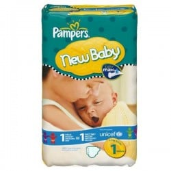 Maxi Pack 172 Couches de Pampers New Baby Dry taille 1 sur Promo Couches