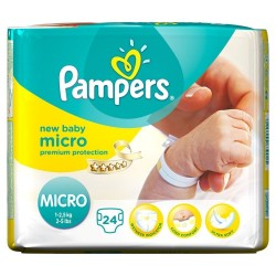 Pack 24 Couches Pampers de la gamme New Baby Micro taille 0