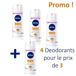 Maxi Pack 4 Deodorants Nivea Stress Protect - 4 au prix de 3 de taille Pocket sur Promo Couches