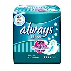 Pack de 16 Serviettes hygiéniques Always Ultra taille Normal sur Promo Couches