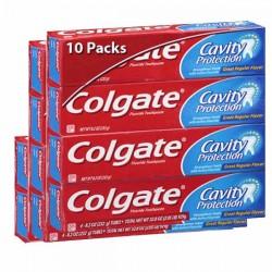 Maxi Pack de 10 Dentifrices Colgate de la gamme Cavity Protection sur Promo Couches