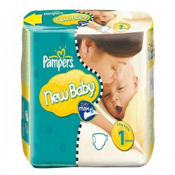 Pack 25 Couches de la marque Pampers New Baby taille 1 sur Promo Couches