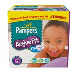 Maxi Giga Pack 222 couches Pampers Active Fit