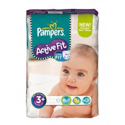 Maxi Pack 320 Couches Pampers Active Fit de taille 3+