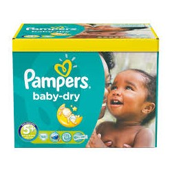 Pack 245 Couches Pampers Baby Dry de taille 5+ sur Promo Couches