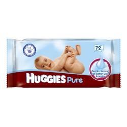 Pack 72 Lingettes Bébés d'Huggies Pure sur Promo Couches