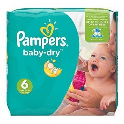 Pack 92 couches Pampers Baby Dry