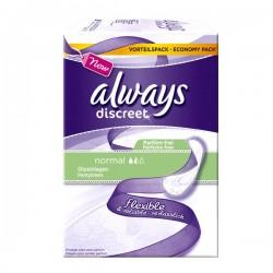 Pack de 34 Serviettes hygiéniques Always Discreet taille Normal sur Promo Couches