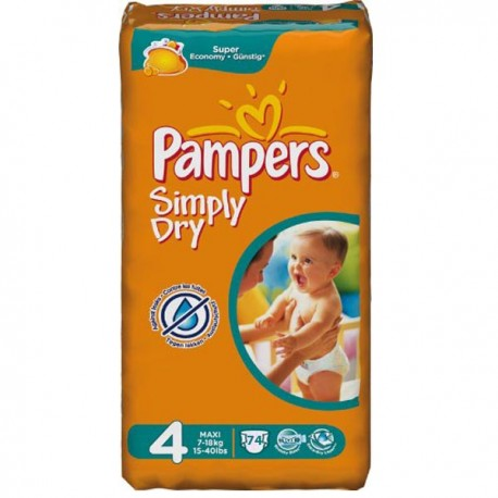 Couches pampers simply dry taille 4 moins cher 74 couches sur promo couches - Couches pampers en promo ...