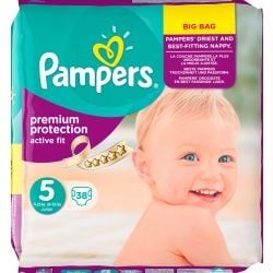 Pack 38 couches Pampers Active Fit