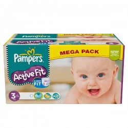 Maxi Giga Pack 372 Couches Pampers Active Fit