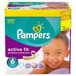 Pack économique 192 Couches de la marque Pampers Active Fit taille 6 sur Promo Couches