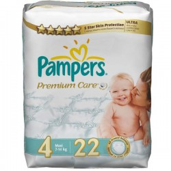 Pack 52 Couches Pampers Premium Care de taille 4 sur Promo Couches