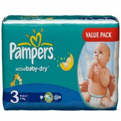 Maxi Pack 192 Couches Pampers Active Baby de taille 3 sur Promo Couches