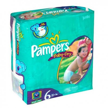 Pack 33 Couches Pampers Baby Dry taille 6 sur Promo Couches