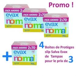 Pack économique de 560 Protèges-Slips Tampax Salva Evax - 4 au prix de 3 sur Promo Couches