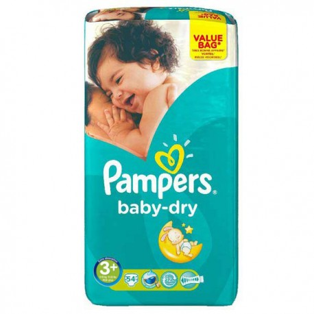 Couches pampers baby dry taille 3 en promotion 54 couches sur promo couches - Couches pampers en promo ...