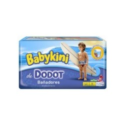 Pack 12 Couches de bains Dodot Maillot de bain taille 4 sur Promo Couches