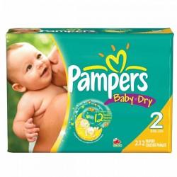 Pack d'une quantité de 232 Couches de la marque Pampers Baby Dry taille 2 sur Promo Couches