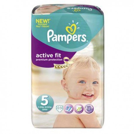 Couches pampers active fit taille 5 en solde 35 couches sur promo couches - Couches pampers en promo ...