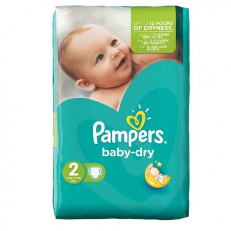 Couches Pampers Baby Dry Taille 2 à Bas Prix 44 Couches Sur Promo