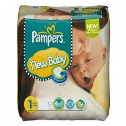 Maxi Pack de 301 Couches Pampers Baby Dry de taille 1