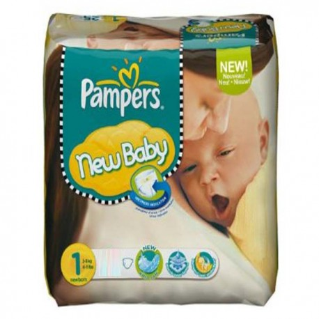 Maxi Pack de 301 Couches Pampers New Baby Dry de taille 1 sur Promo Couches