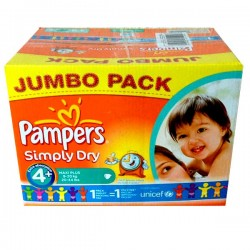Maxi Giga Pack 308 couches Pampers Simply Dry