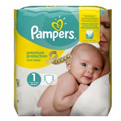 Pack 27 Couches Pampers de la gamme New Baby Dry de taille 1