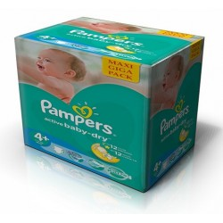 Maxi Giga Pack 384 Couches Pampers Active Baby Dry