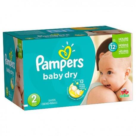 Pack économique de 252 Couches Pampers Baby Dry de taille 2 sur Promo Couches