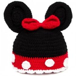 Bonnet crocheté main des Premiers ensembles nouveaux nés de Choupinet Minnie Mouse sur Promo Couches