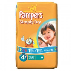 Pack 44 Couches Pampers Simply Dry