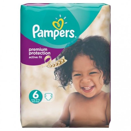 Couches pampers active fit taille 6 pas cher 64 couches sur promo couches - Couches pampers en promo ...