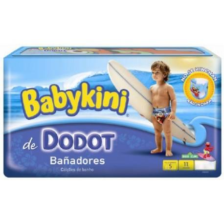 Pack d'une quantité de 11 Couches de bains Dodot de la gamme Maillot de bain taille 5 sur Promo Couches