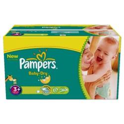 Pack économique 476 Couches de Pampers Baby Dry de taille 3+ sur Promo Couches