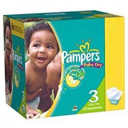 Pack économique 280 Couches de Pampers Baby Dry de taille 3 sur Promo Couches