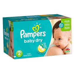 Giga Pack de 396 Couches Pampers Baby Dry de taille 2