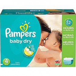 Giga Pack 372 Couches Pampers de la gamme Baby Dry taille 4 sur Promo Couches