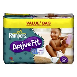 Maxi giga pack de 174 Couches Pampers Active Fit taille 5+