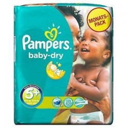 Pack de 43 Couches de la marque Pampers Baby Dry taille 5+