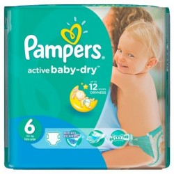 Pack de 36 Couches Pampers Baby Dry taille 6