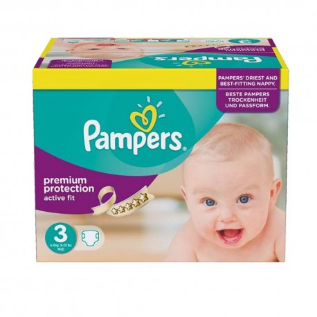Pack 123 Couches Pampers Active Fit taille 3 sur Promo Couches
