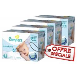 Giga Pack d'une quantité de 540 Couches de la marque Pampers New Baby Sensitive de taille 2 sur Promo Couches
