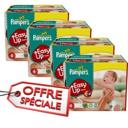 Maxi giga pack jumeaux de 840 Couches Pampers Easy Up de taille 4 sur Promo Couches
